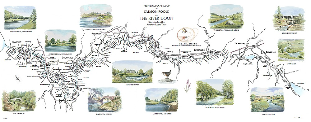 River Doon Map Print