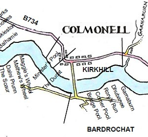 Fisherman's Map of River Stinchar