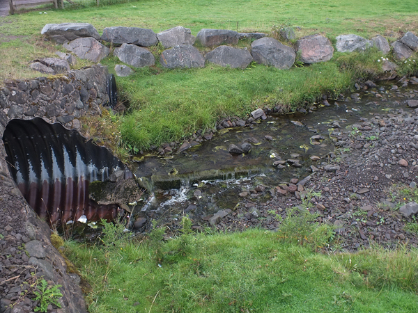 The upper end isn't exactly good for fish passage either.