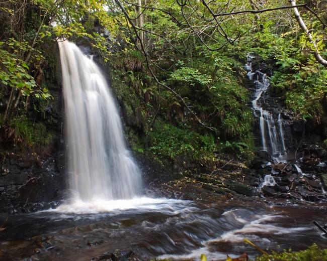 Waterfalls at the top of the Skelmorlie survey