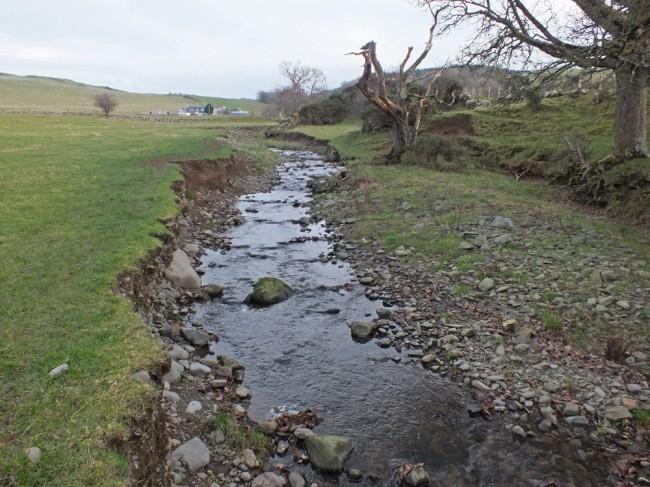Erosion on the lower Sallochan Burn