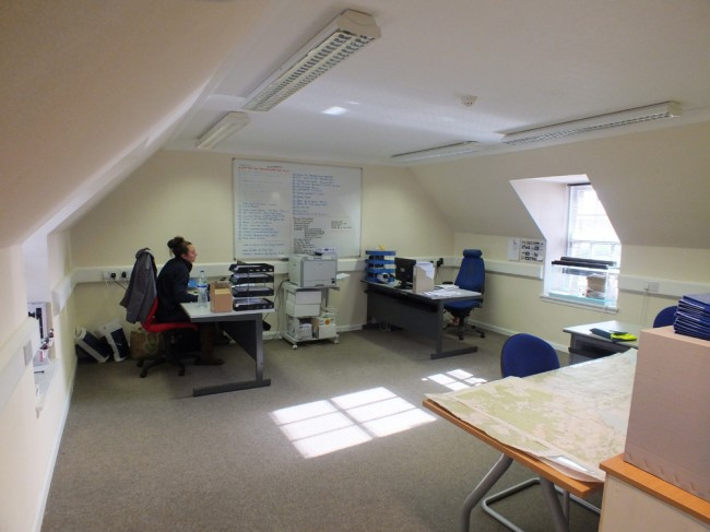 The upstairs office where Gillian and Stuart are based. There's space for more seasonal staff and meetings if required.