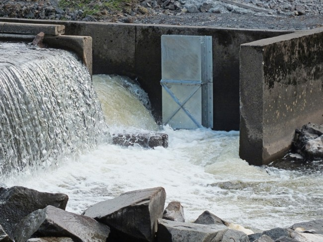 Screens for the spillway