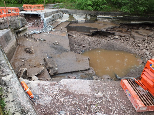 Anderson's Pool after we finished the work. Flow will be restored again this evening.