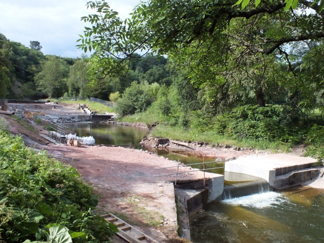 The middle pool and the newly reconstructed Anderson's weir.