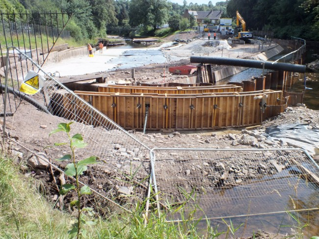 Another view of the fish pass extension