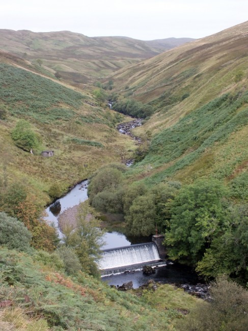 The view of Garnock Weir as we approached from the old pump house