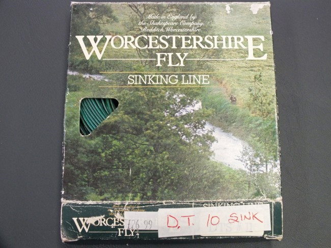Worcestershire salmon fly line DT10 sinking. Possibly never been used. Original price is on box