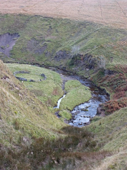 Looking down to the Glenmuire where erosion and water temperatures may be reduced by a few trees.
