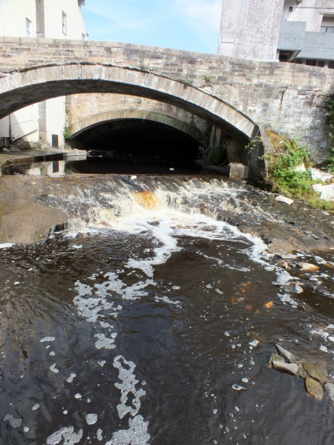 The weir at Cheapside Street last summer. In it's current state it was easily passable but there is a significant risk of collapse that has to be addressed.  Within the weir itself is a sewer pipe crossing the river and this presents a huge risk to the environment should it collapse.