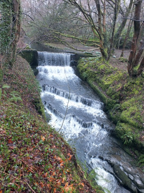A formidable barrier on the Braidland Burn that joins the Garnock in Dalry.