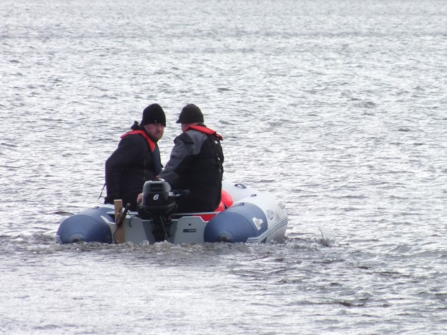 Wrapped up against the weather and equipped with essential life saving equipment for cold water conditions. This isn't an easy job at the best of times but we just haven't got the option to wait until the summer.