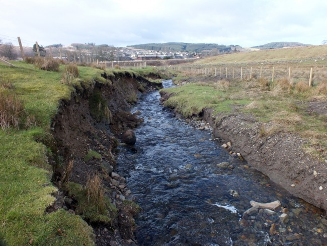 High erosion on the Drumgrange Burn
