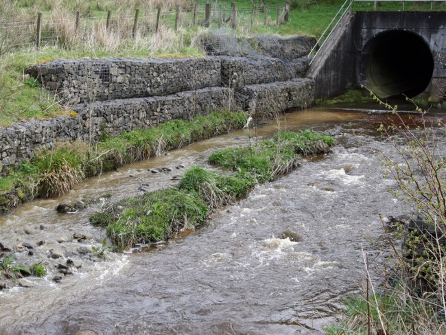 The culverts at the A76