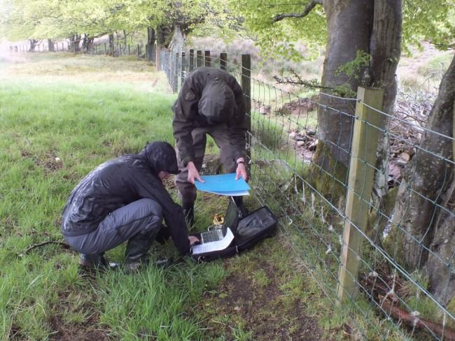 The hazards of field work on the West Coast of Scotland. Yecannywhackit!