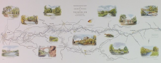 The River Ayr Map. A high resolution image can be seen on the ordering page