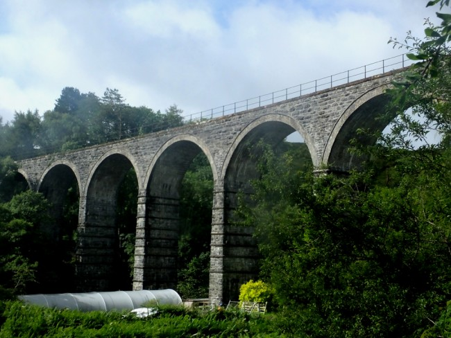 A view of Kinclair viaduct where work to stabilise a buttress will mean in stream works in the coming weeks.