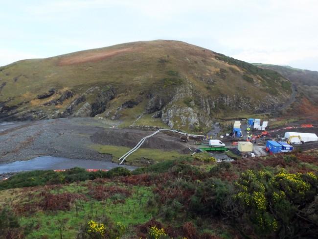 Ballandowan Burn at Curarrie Port where the Irish inter connector comes ashore