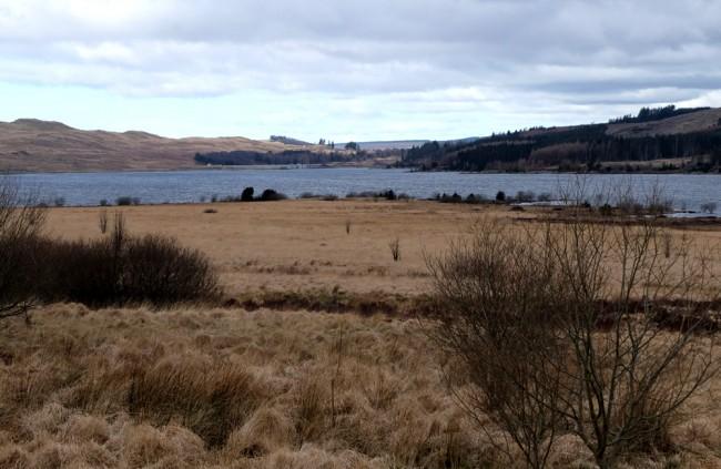 Looking towards the dam from near Lamdoughty Burn