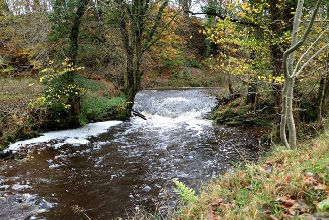 The Culroy weir a year ago, relatively intact and structurally sound.