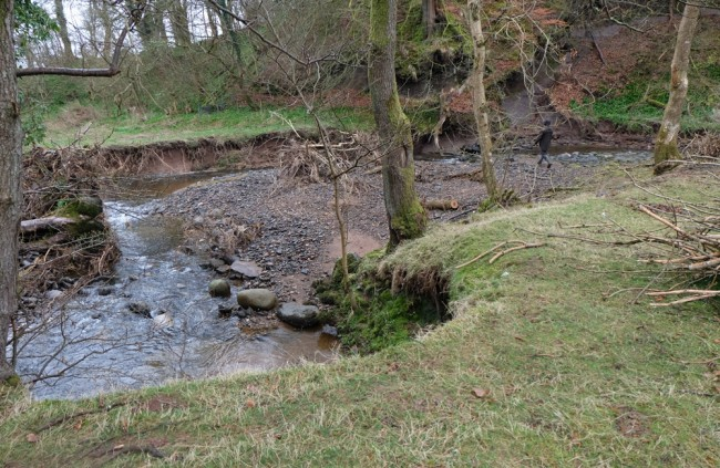 The extent of the damage can be seen in this photo. Although there has been massive erosion, so too there is great benefit taking the weir out of the equation