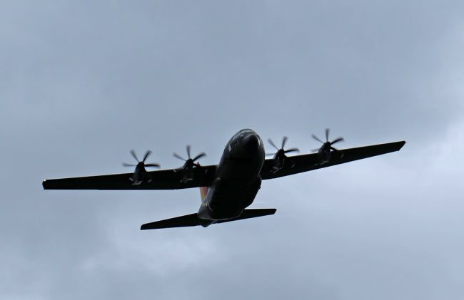 What an impressive site this Hercules was as it flew low down the valley and over our heads.