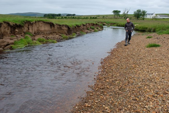 Just one of the many gravel bars that build up in the meanders. This material is important in the river and we won't aim to stop the supply completely.