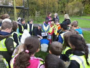 Fish identification with Barshare Primary School on the Lugar Water